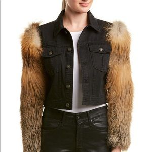 Cinq a Sept Emmy Jacket with Fur Sleeves